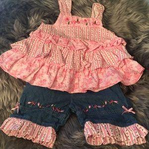 Austin & Ashley 2pc crop pants & top Size12 months